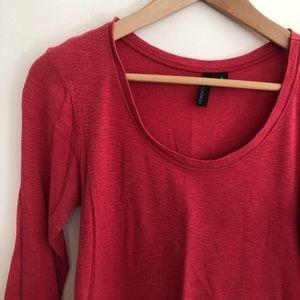 Pink three-quarter sleeve tee | Cynthia Rowley
